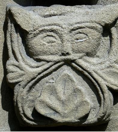 Particolare della St. Mary's Church, Iffley, Oxfordshire, in Inghilterra