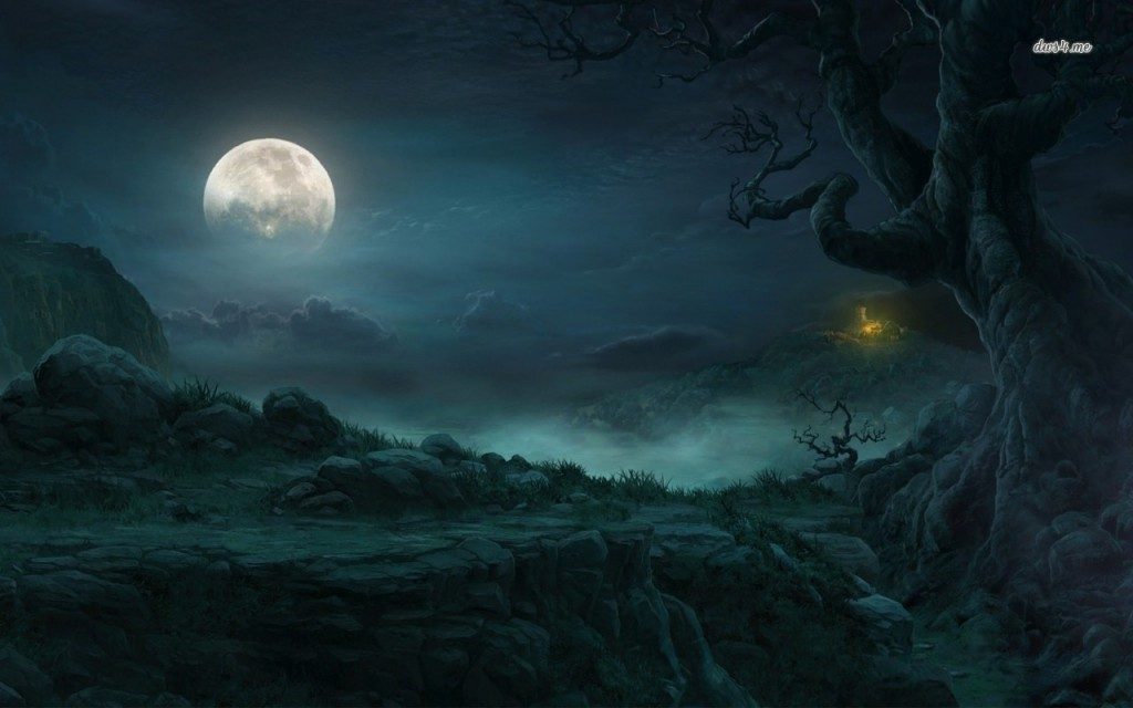 13038-full-moon-in-the-forest-1280x800-fantasy-wallpaper