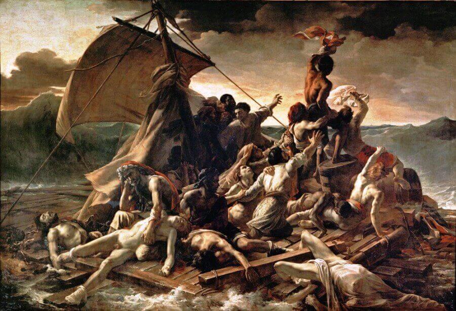 """""""La zattera della Medusa"""" di Théodore Géricault"""