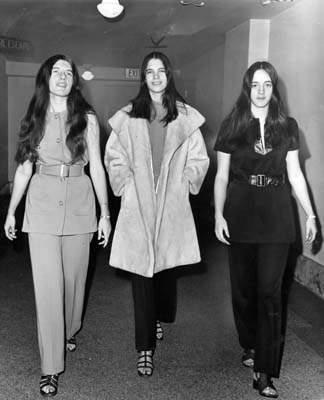 Patricia Krenwinkel, Leslie Van Houten, and Susan Atkins